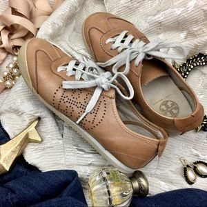 Tory Burch Leather Murphey Sneakers- Sz 8